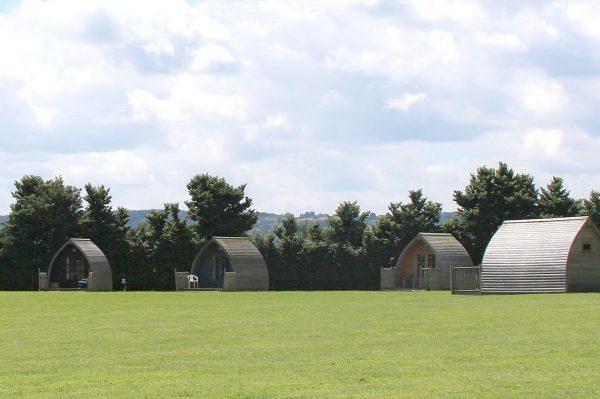 Wishbone camping pods